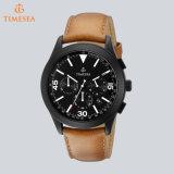 Reloj de los hombres de cuero de lujo del deporte del cronógrafo del reloj 72408