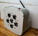 6X10W RGBW in 1 Draadloze LEIDEN van de Batterij Vlak PARI kan Partij aansteken