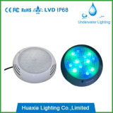Indicatore luminoso subacqueo della piscina fissata al muro del LED