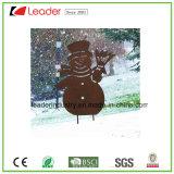 De Kerstman van Kerstmis van het metaal met de Rustieke Staak van de Tuin voor OpenluchtDecoratie