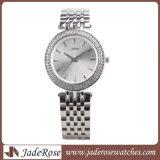 La moda de la mujer de acero inoxidable reloj Relojes de cuarzo analógico de Pulsera, reloj de pulsera