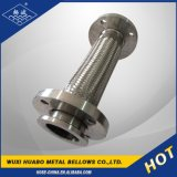 En acier inoxydable de tressage de 304/316L Bride tuyau ondulé