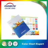 Personalizado tarjeta de papel de pared de revestimiento de color
