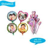 Impressão de fotografias de bricolage balão personalizado com sua própria imagem A4
