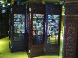 Portello di legno solido con vetro per il portello interno