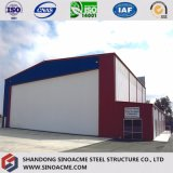 Sinoacmeの高品質のプレハブの鉄骨構造の研修会の小屋