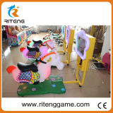 Máquina interior para niños viaje loco 3D Carreras de caballos