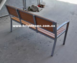 Outdoor Garden Double Chair Aluminum Plastic Wood