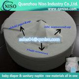 赤ん坊のおむつの原料の樹液のペーパーのためのAirlaidの吸収性のペーパー