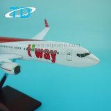Vliegtuig van de Ambacht van de Hars van de Schaal van het 1:100 van de Lucht B737-800 van T'way het Model