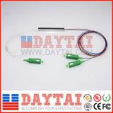Un mini tipo divisore ottico di 12 colori del PLC 1X2 della fibra di 0.9mm