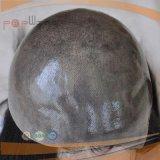 Parrucca rivestita di silicone delle donne dei capelli umani di colore nero non trattato superiore del Virgin