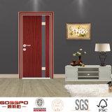 Casa del diseño moderno de chapa de madera melamina puerta moldeados (GSP13-006)