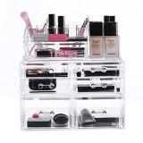 Caixa de armazenamento de cristal de caixa de beleza acrílica