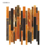 Mattonelle di mosaico di vetro decorative domestiche del Brown per la stanza da bagno Backsplash