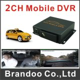 2CH Two Camera CCTV Car DVR para Truck Bus Taxi