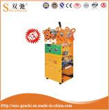 Máquina manual del lacre de la taza del solo alto amarillo lateral de la carrocería