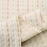 Tessuto organico della Jersey della bambola del cotone del tessuto organico del jacquard per i vestiti di inverno