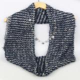Акриловая связанная грелка шеи зимы, вспомогательное оборудование способа шарфа способа