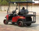 Тележка гольфа красного цвета металла электрическая с складным местом