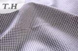 Tessuto di tela blu del sofà del reticolo di griglia