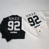 2016卸し売り長い袖はHoodyのディジットの野球の女性のスポーツのブレザーのジャケットのファスナーを締める