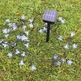 Lumières solaires de la fleur 20LEDs des lampes 4.8m pour Noël extérieur de jardin