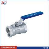 Válvula de esfera roscada de aço inoxidável 1PC com certificado Ce