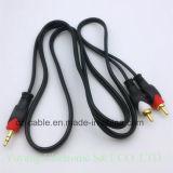 2RCA/2r Plug/Jack estéreo de 3,5 mm/3.5 AV/TV/DVD/VCD/Video/Audio/Medios de Comunicación Cable (2R-3.5)
