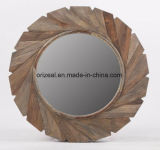 Espelho de parede decorativo de madeira sólida moderna