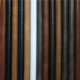 Tecidos populares de pele artificial de PU de grãos para material de calçado de moda