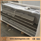 Bordas de bancada de quartzo de pedra artificial de cinza puro