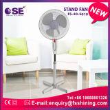 Ventilateur électrique en plastique de base en travers de stand de 16 pouces