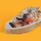 Pistoni variopinti della scarpa di tela della piattaforma dei fiori del Sequin di modo delle donne