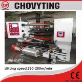 De automatische Snijmachine die van de Hoge snelheid Rewinder scheuren die met de Schacht van de Misstap opnieuw opwinden