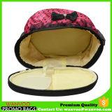 金属のジッパーが付いているレトロのサテンファブリックCosmetic&の構成の袋の食料雑貨入れの袋