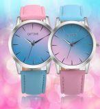 Relojes resistentes de la marca de fábrica de agua de la correa de la joyería de las mujeres de señora reloj del reloj del cabrito