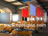 도로 옆 Vms 휴대용 옥외 소통량 표시판 LED는 트레일러를 서명한다