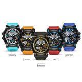 Nieuwste de twee-Beweging van de Pols Heet Verkopend Horloge met de Riem van het Silicone