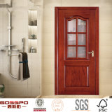 Porte intérieure en bois de salle de bains avec la glace givrée (GSP3-012)