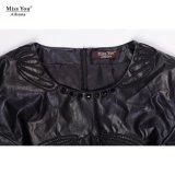 Miss You Ailinna 305391 De Fábrica Directamente Venta De Mujeres Atractivas PU Vestido Corto