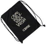 Logotipo impresso personalizado durável Algodão Canvas Drawstring Bag Backpack