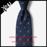 Azul magro tecido 100% de seda Handmade do laço do Mens
