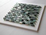 Mosaico del shell de agua dulce y del vidrio de mármol y cristalino 10*30