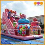 Trasparenza gonfiabile commerciale del Bouncer della caramella poco costosa della fabbrica di Guangzhou per il bambino (AQ01756)