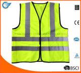 Veste reflexiva da veste elevada da segurança da visibilidade com En20471