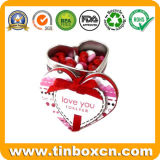 En forma de corazón de la lata la caja del caramelo, dulces Lata, chocolate caja de la lata