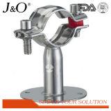 Suporte da tubulação da sustentação de tubulação sanitária do aço inoxidável com base