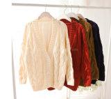 Связанная пенька женщин повелительниц цветет свитер пальто плащи-накидк кардигана летучей мыши