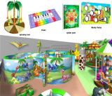 Parque de Diversões alegrar playground coberto com temática de selva de alta qualidade para crianças